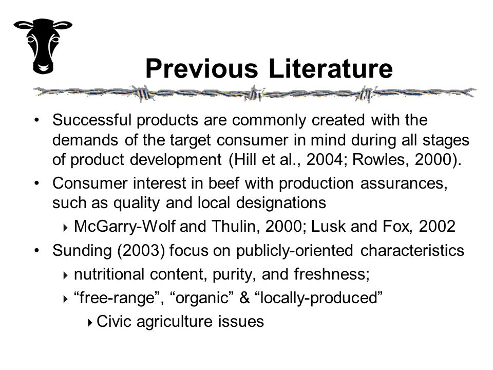 Target Consumers Quality Seekers and Health and Natural Consumers (13% each) willing to pay a premium for natural, local beef.