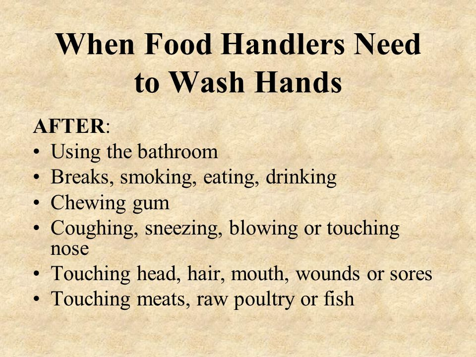 Hand Washing Is Important ! Keep hand sinks clean and useable. Wash hands after: