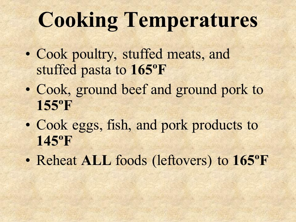 Potentially Hazardous Food Any food capable of supporting the rapid growth of harmful bacteria. Meat/meat products Eggs Dairy Baked potatoes Rice Cook