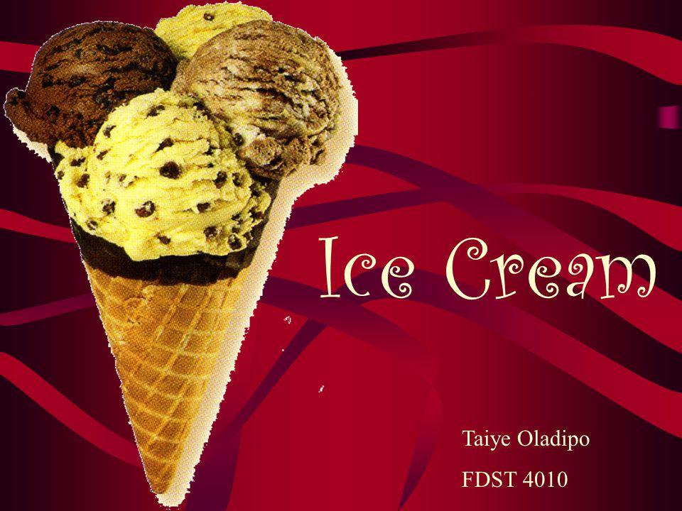Ice Cream Taiye Oladipo FDST 4010