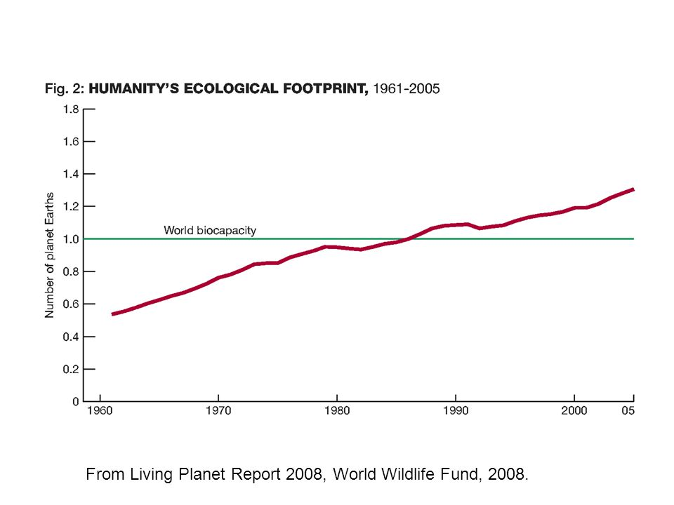 From Living Planet Report 2008, World Wildlife Fund, 2008.