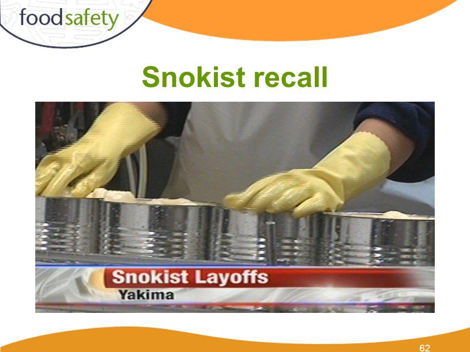 Snokist recall 62
