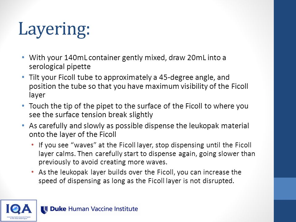 Video: Layering Be patient while beginning to dispense.