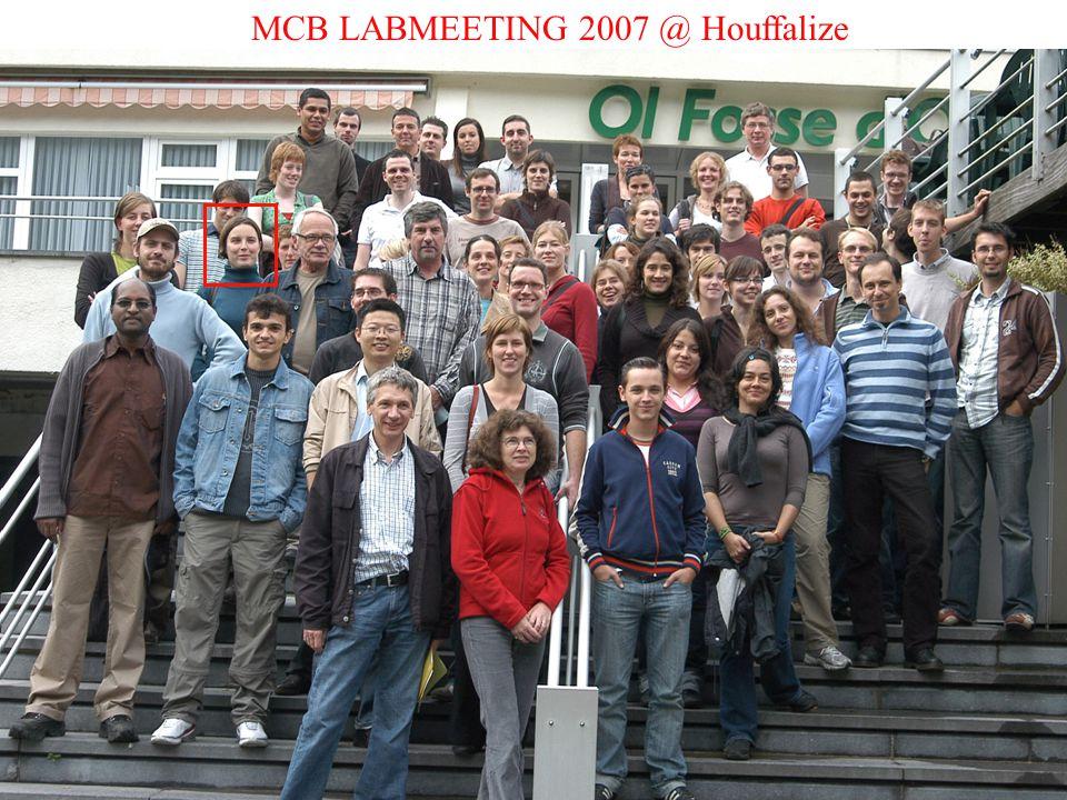 MCB LABMEETING 2007 @ Houffalize