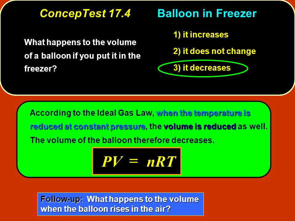 when the temperature is reduced at constant pressurevolume is reduced According to the Ideal Gas Law, when the temperature is reduced at constant pressure, the volume is reduced as well.