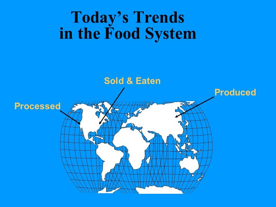 Today's Trends in the Food System Produced Processed Sold & Eaten