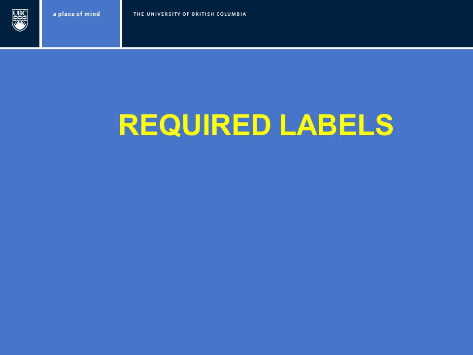REQUIRED LABELS