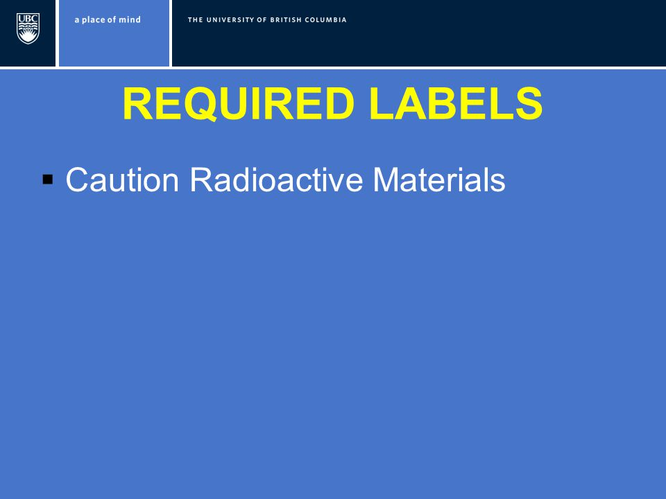  Caution Radioactive Materials