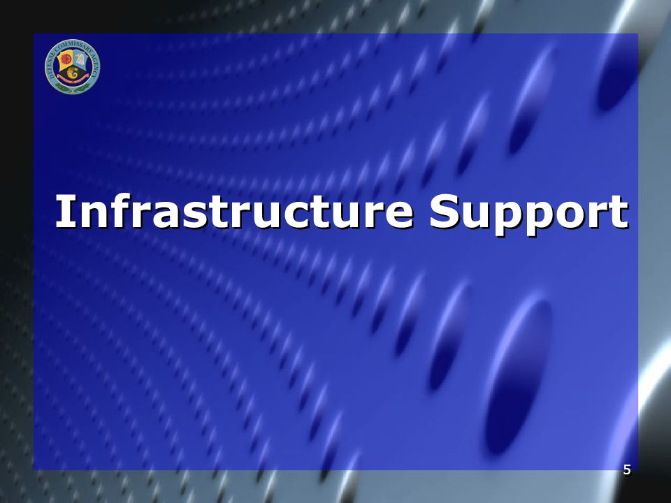 5 Infrastructure Support