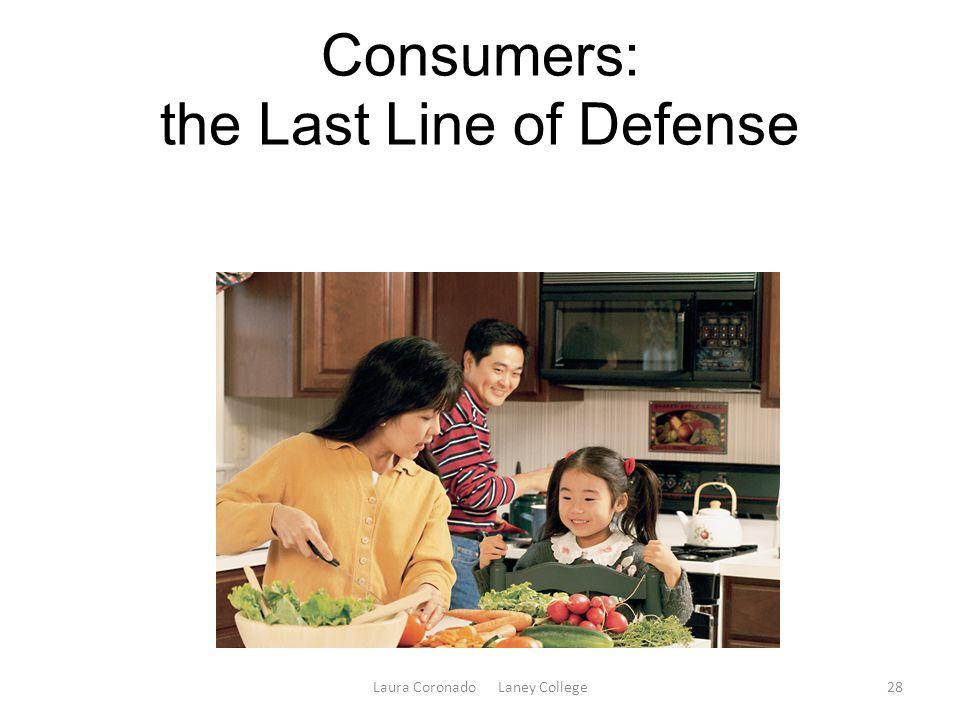 Consumers: the Last Line of Defense Laura Coronado Laney College28