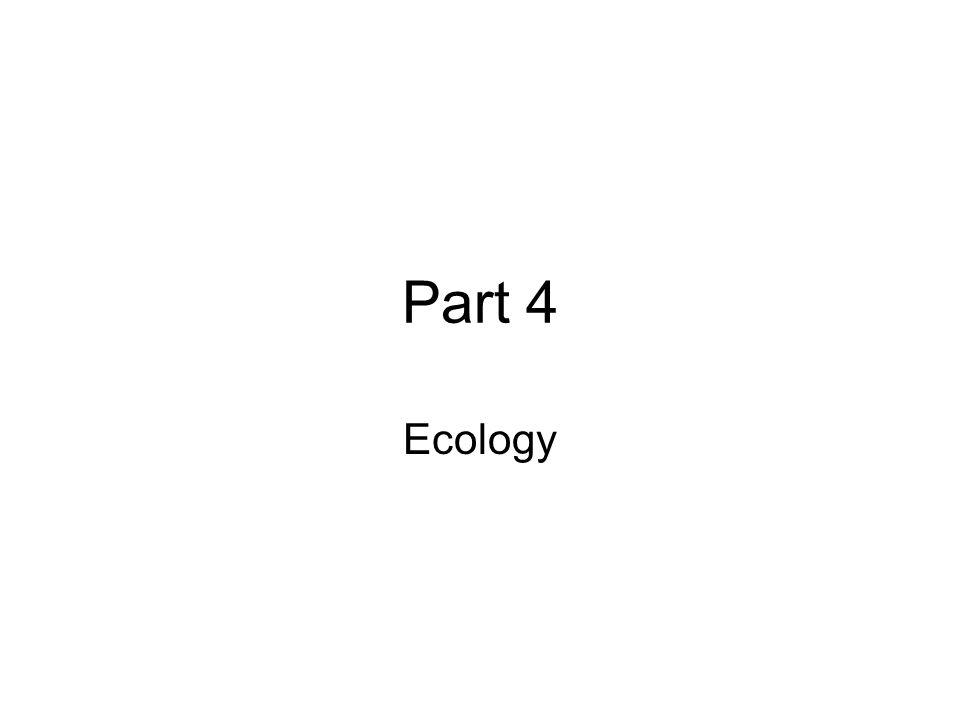 Part 4 Ecology