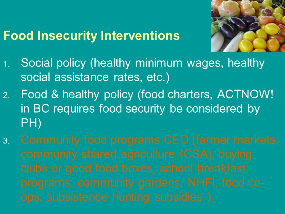 Food Insecurity Interventions 1.