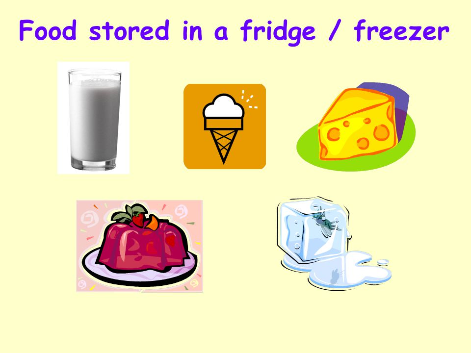Independent Living 18 Quiz Question 2 Can you name any items you can put into a fridge / freezer? Click on the fridge / freezer if you need help.