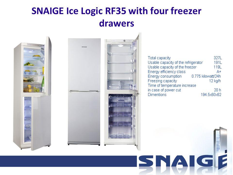 SNAIGE Ice Logic RF35 with four freezer drawers