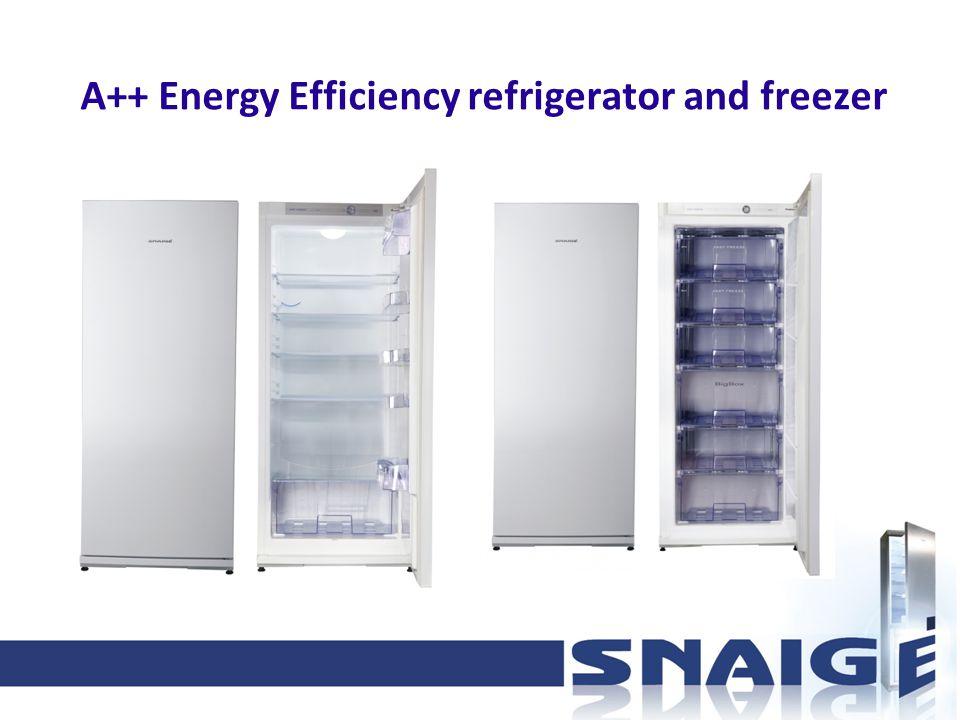 А++ Energy Efficiency refrigerator and freezer