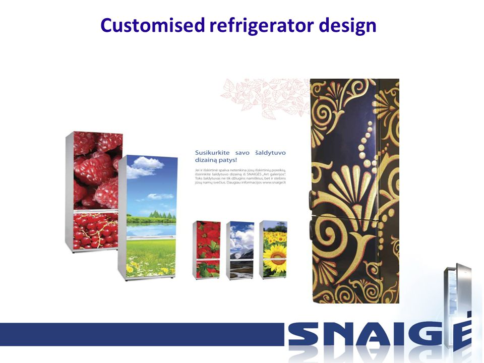Customised refrigerator design