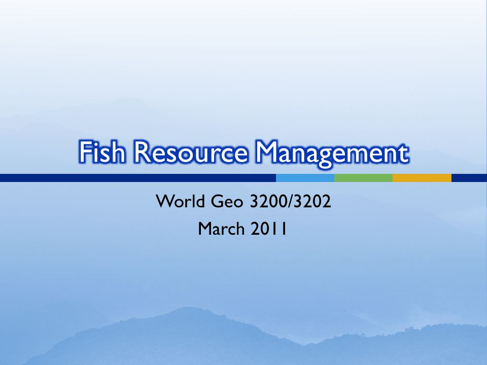 World Geo 3200/3202 March 2011