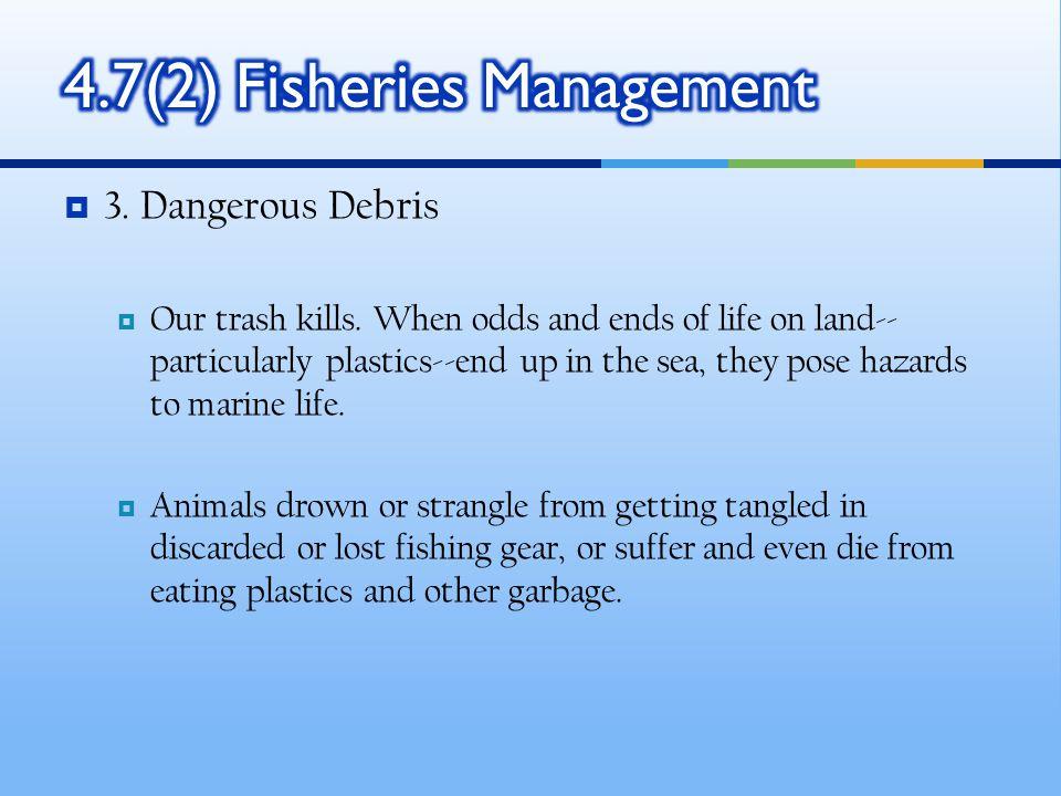  3.Dangerous Debris  Our trash kills.