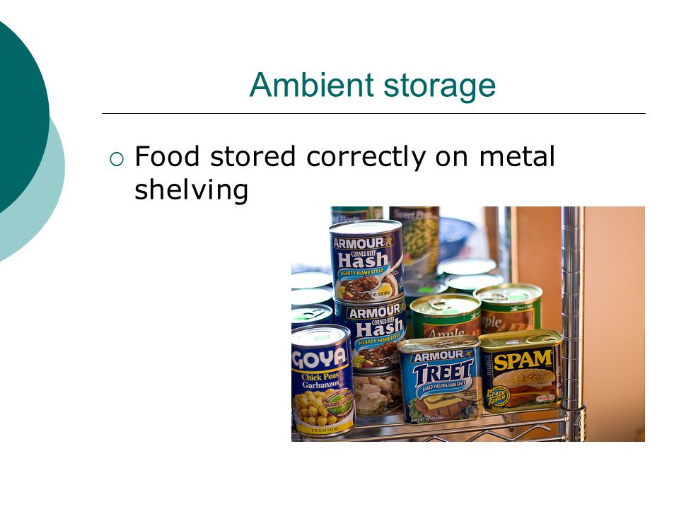 Frozen Storage  Frozen food must be stored at:  -18° to -22°C  At -40°c food can last for years without any deterioration, at -18°C there will be gradual deterioration  The temperature of the freezer should be taken daily and recorded  Food must always be clearly labelled