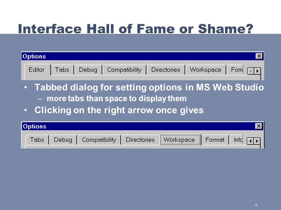 3 Interface Hall of Shame.