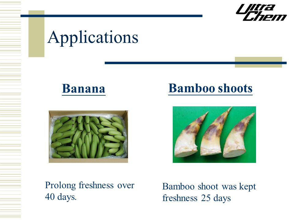 Applications Banana Bamboo shoots Prolong freshness over 40 days.