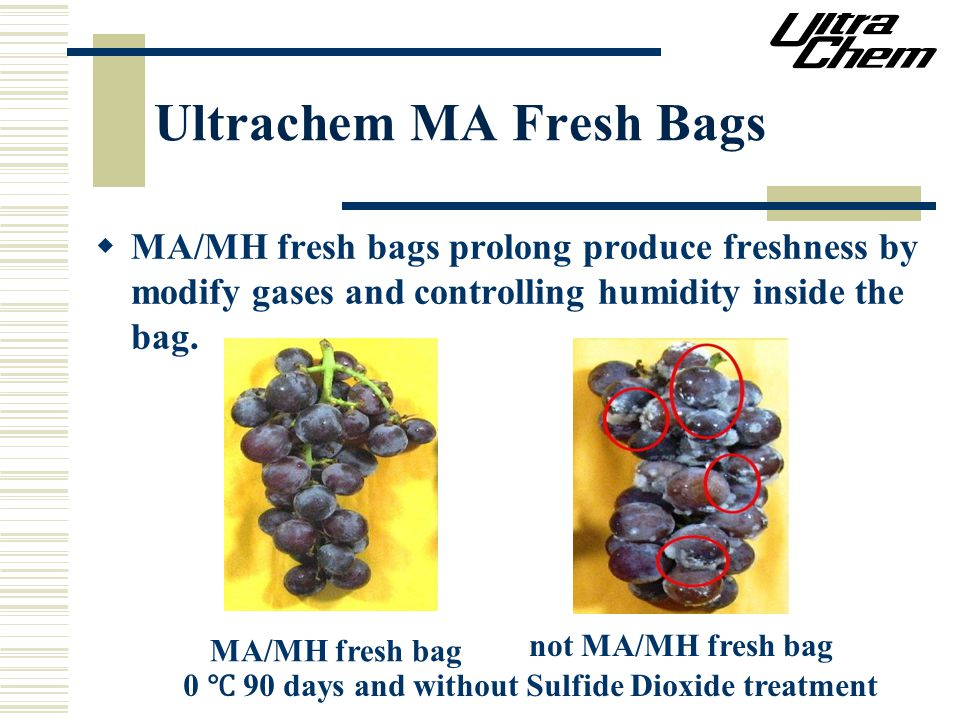 Ultrachem MA Fresh Bags  MA/MH fresh bags prolong produce freshness by modify gases and controlling humidity inside the bag.