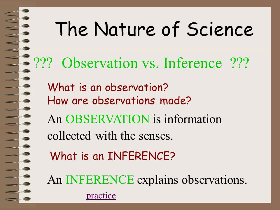 The Nature of Science ??. Observation vs. Inference ??.