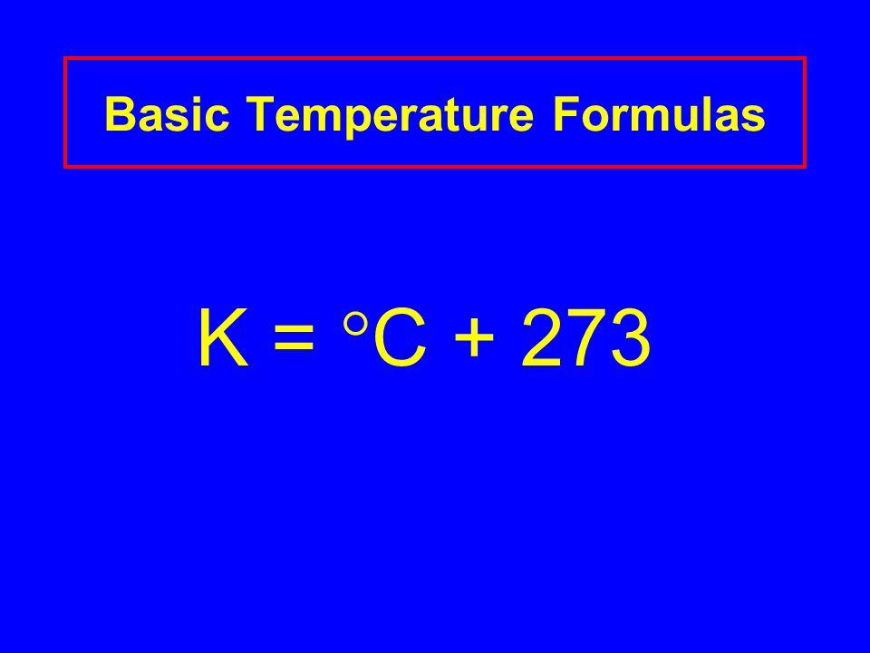 K =  C + 273