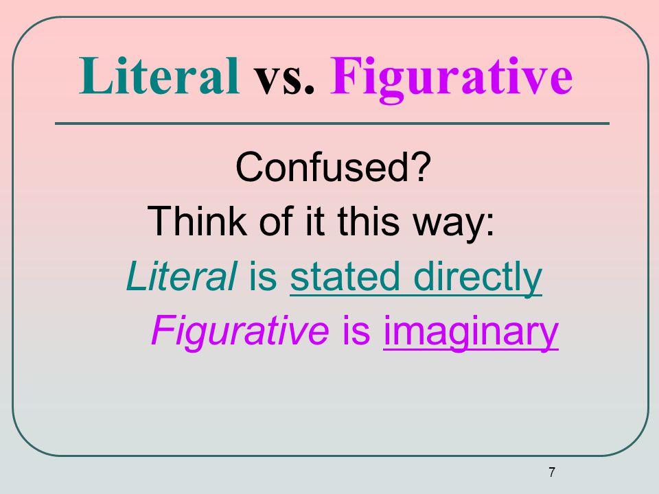7 Literal vs. Figurative Confused.