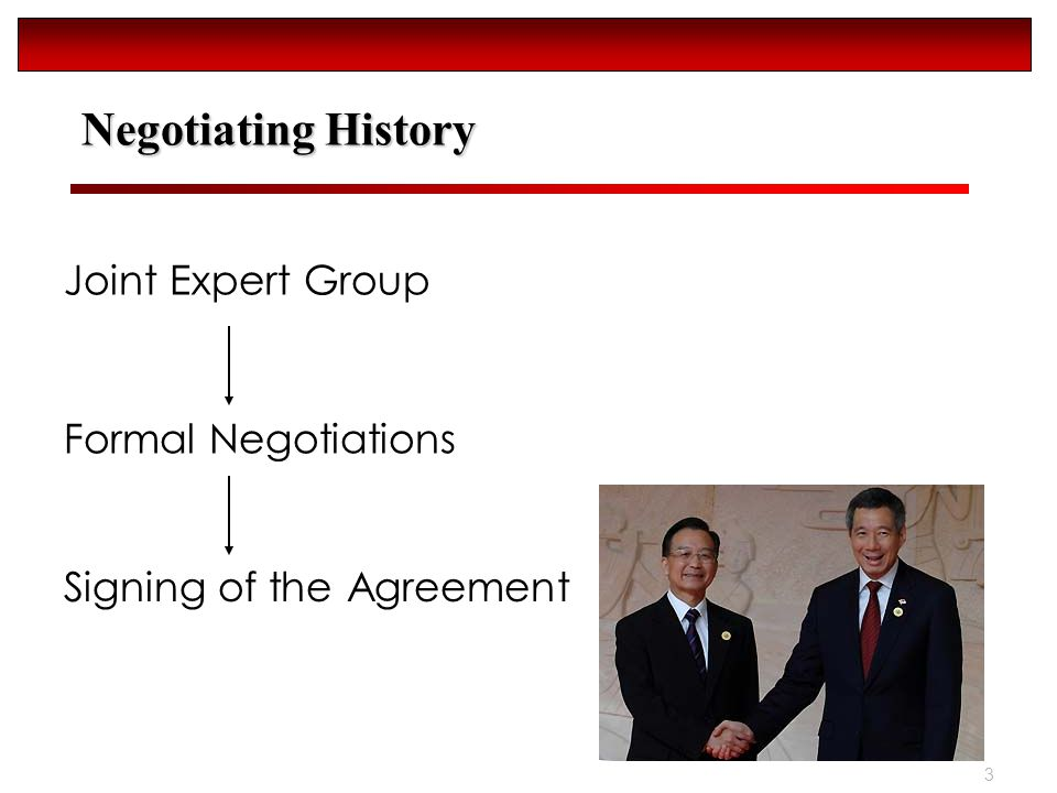 3 Negotiating History Joint Expert Group Formal Negotiations Signing of the Agreement