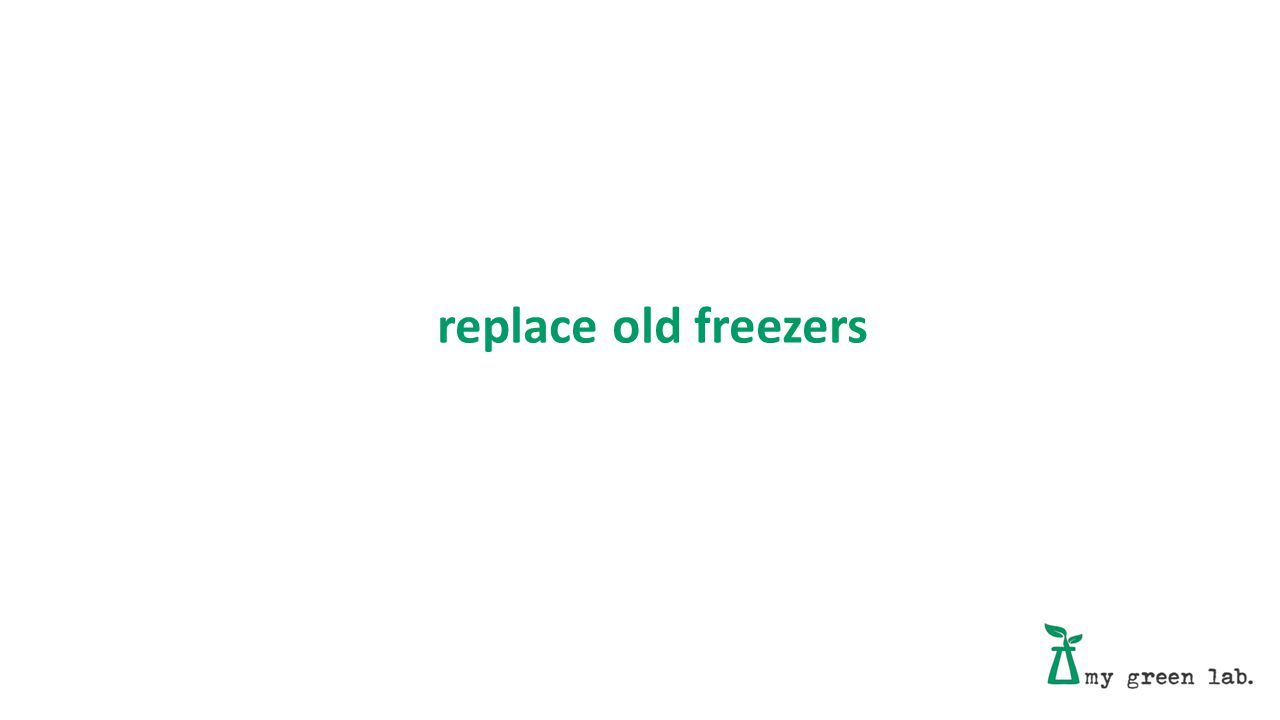 replace old freezers
