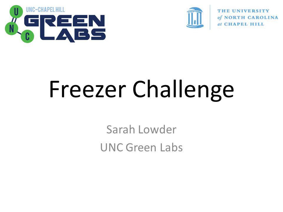 Freezer Challenge Sarah Lowder UNC Green Labs