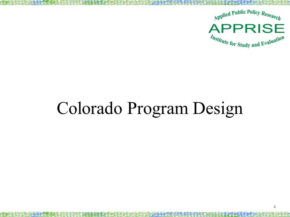 Colorado Program Design 4