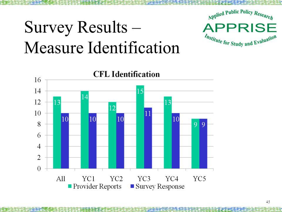 Survey Results – Measure Identification 45