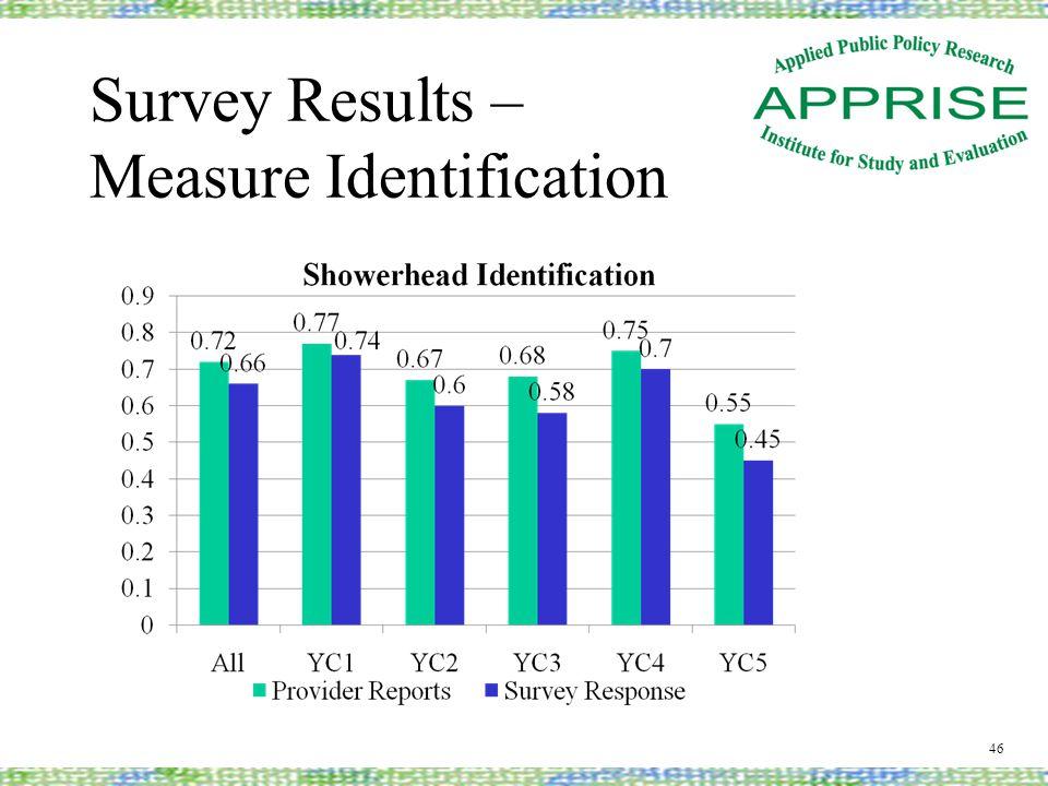 Survey Results – Measure Identification 46