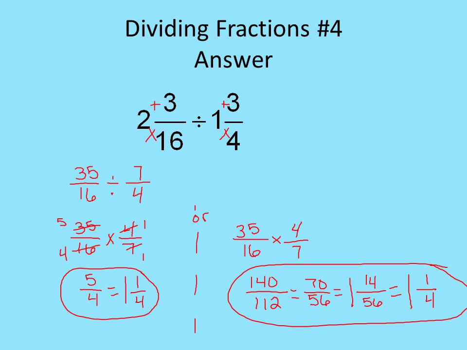 Dividing Fractions #4 Answer