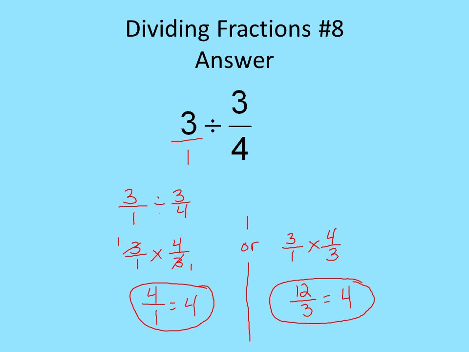 Dividing Fractions #8 Answer