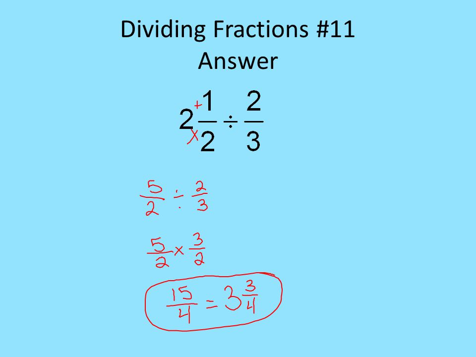 Dividing Fractions #11 Answer