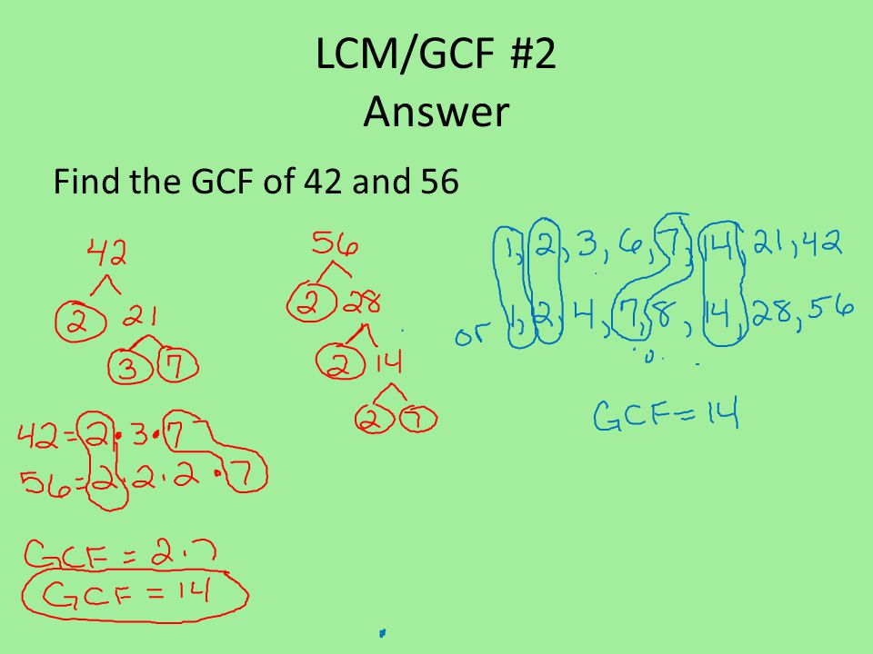 LCM/GCF #3 Find the GCF of 75 and 30