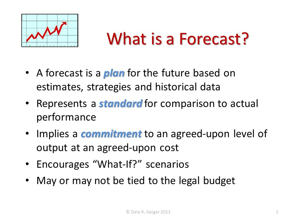 What is a Forecast.
