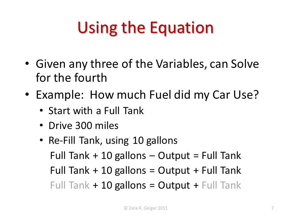 Flexible Forecast Example Assumptions: Fixed Cost = $20 Variable Cost per Burger = $5 © Dale R.
