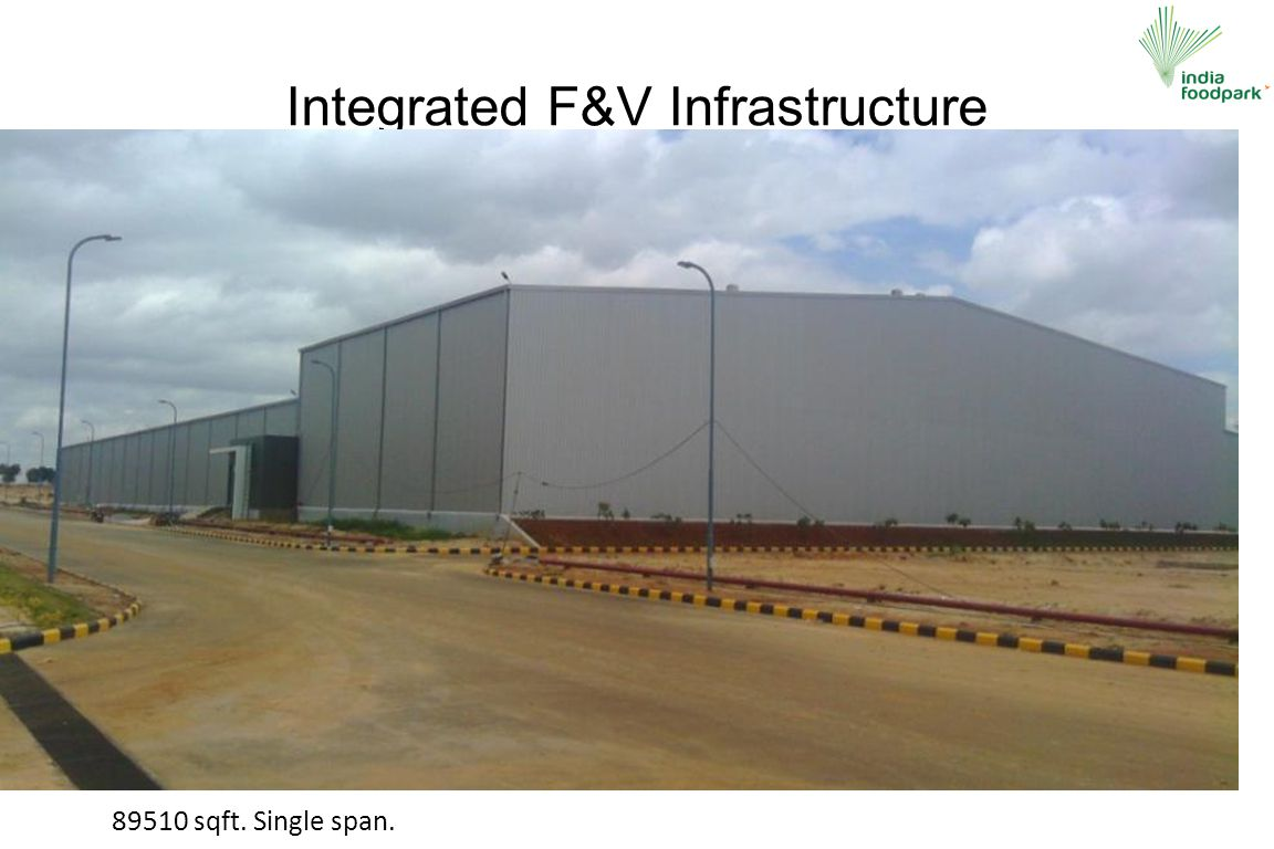 Integrated F&V Infrastructure 89510 sqft. Single span.