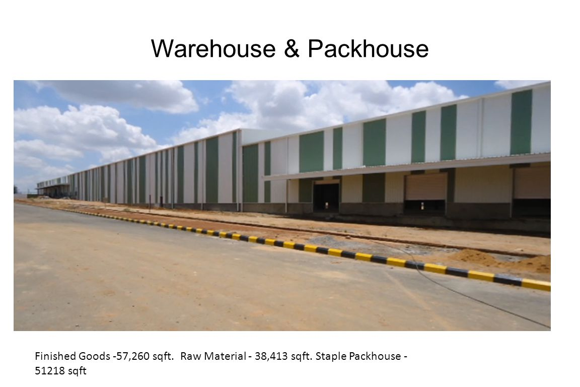 Warehouse & Packhouse Finished Goods -57,260 sqft.