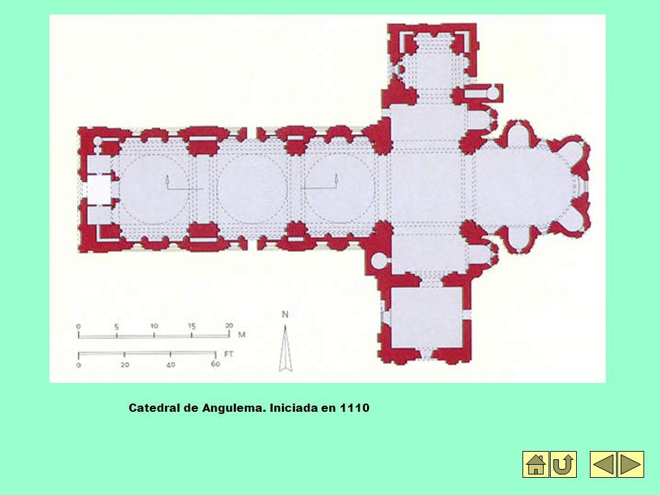 Catedral de Angulema. Iniciada en 1110