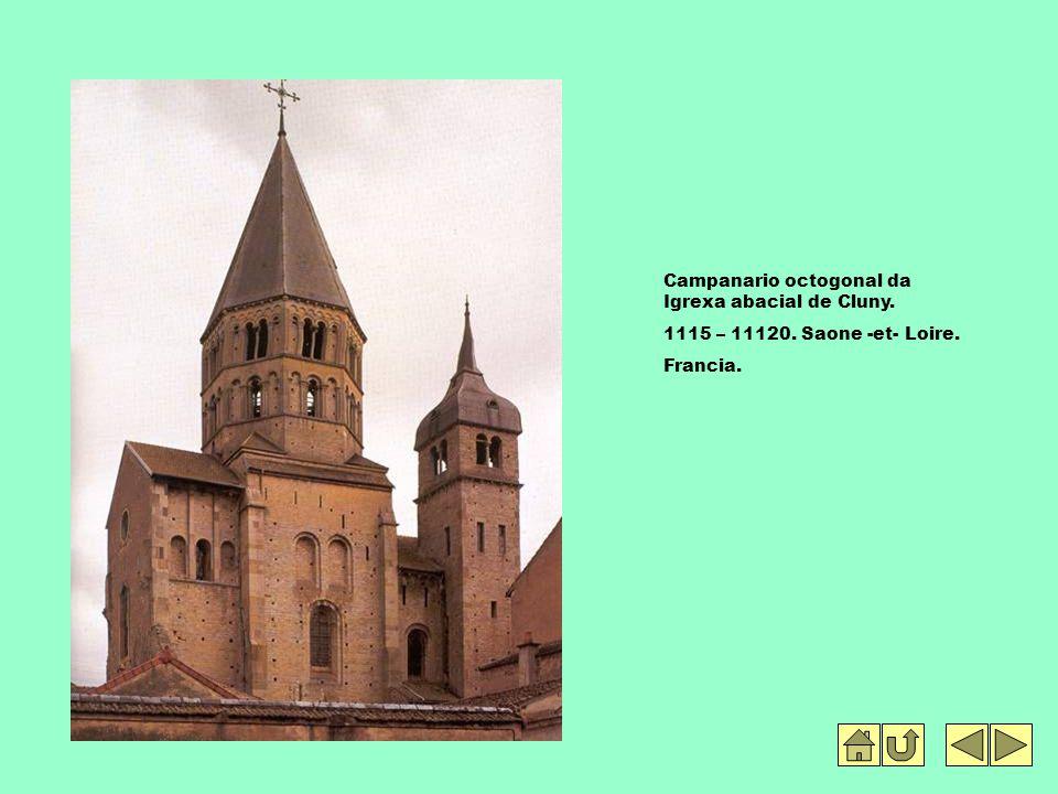 Campanario octogonal da Igrexa abacial de Cluny. 1115 – 11120. Saone -et- Loire. Francia.