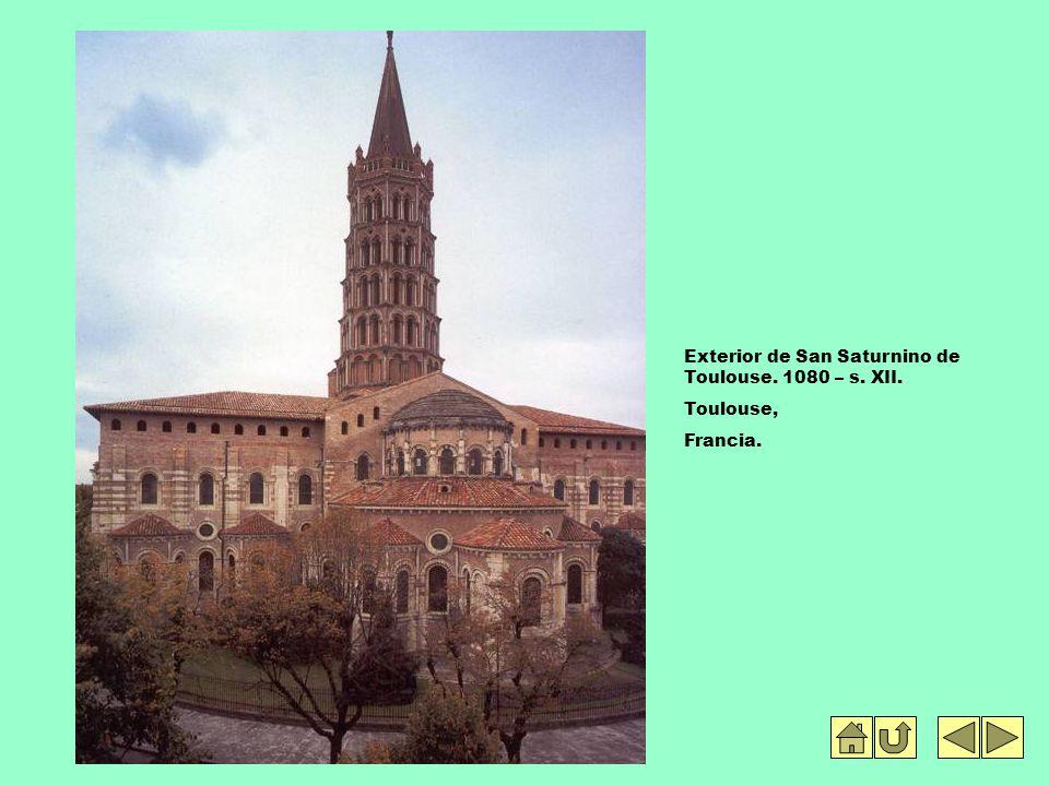 Exterior de San Saturnino de Toulouse. 1080 – s. XII. Toulouse, Francia.
