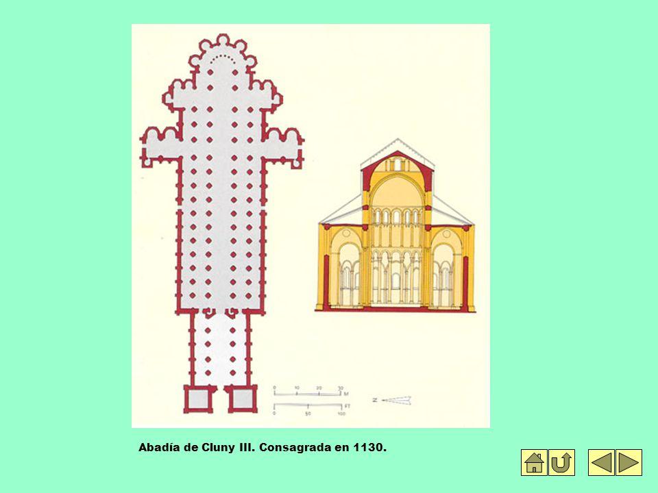 Abadía de Cluny III. Consagrada en 1130.