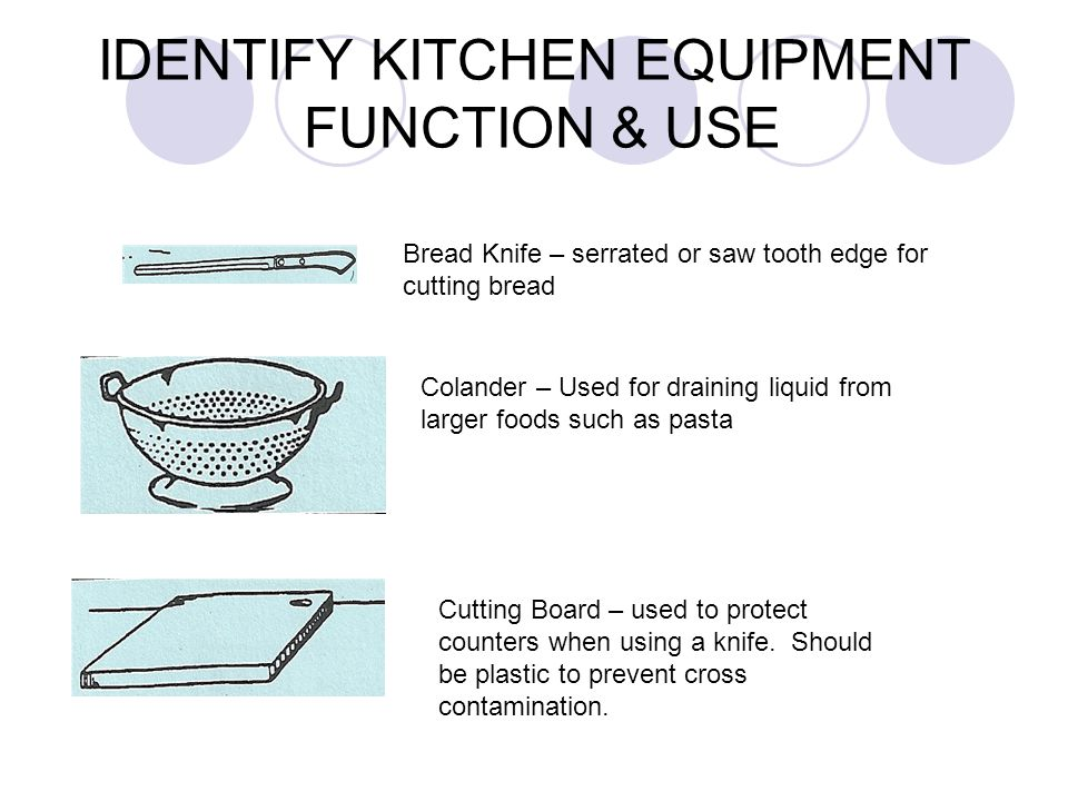 Chefs or French knife – has a wide triangular blade used for chopping or dicing.