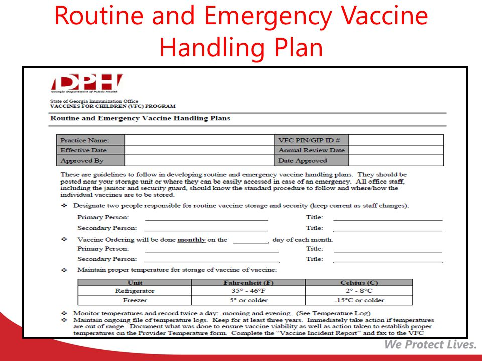 Transporting Varicella-Containing Vaccines Varicella-containing vaccines may be transported at refrigerator temperature between 36°F and 46°F (2°C and 8°C) for up to 72 continuous hours prior to reconstitution.