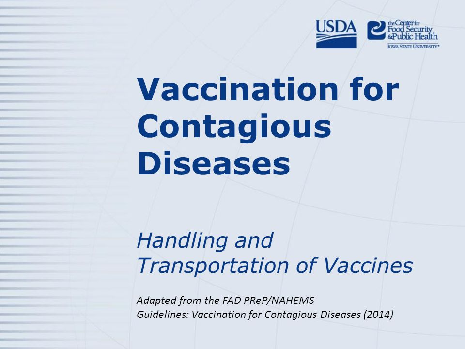 Preparing to Administer Lyophilized Vaccine USDA APHIS and CFSPHFAD PReP/NAHEMS Guidelines: Vaccination for Contagious Diseases - Handling